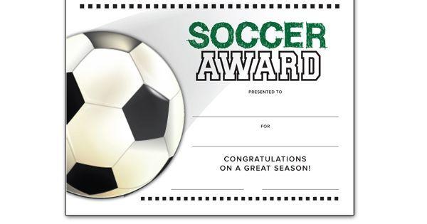 image result for soccer award template