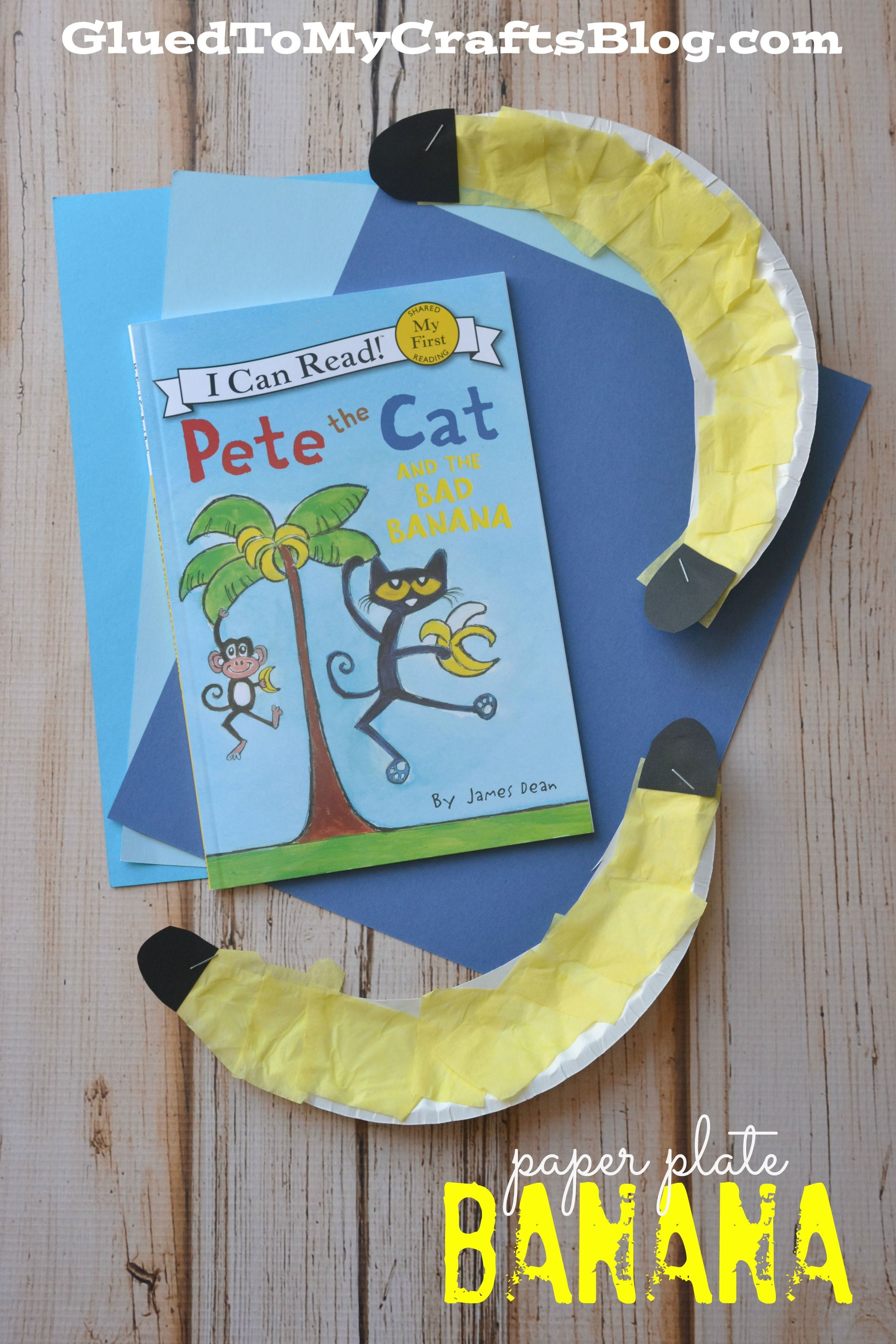 Paper Plate Banana Kid Craft