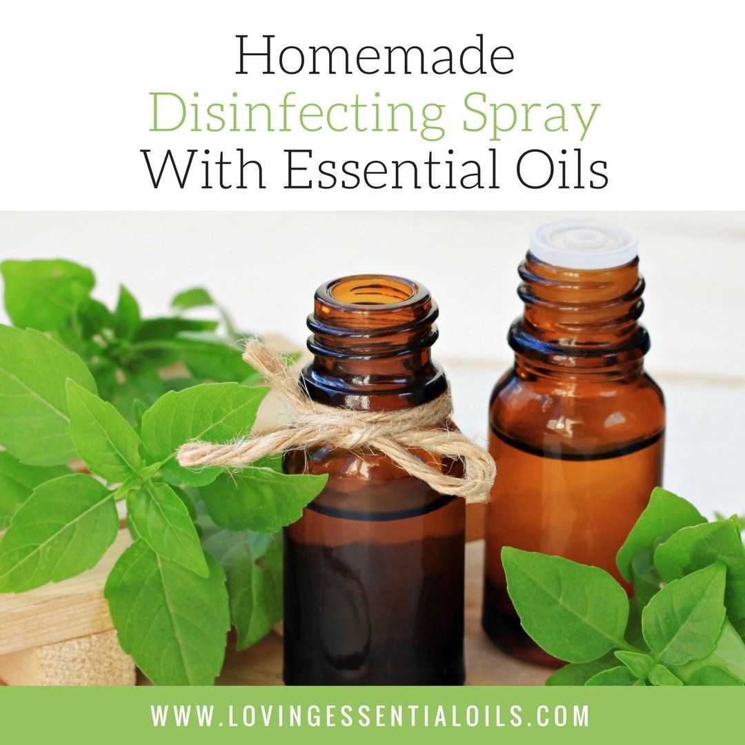 Disinfecting Spray With Essential Oils Diy essential oil