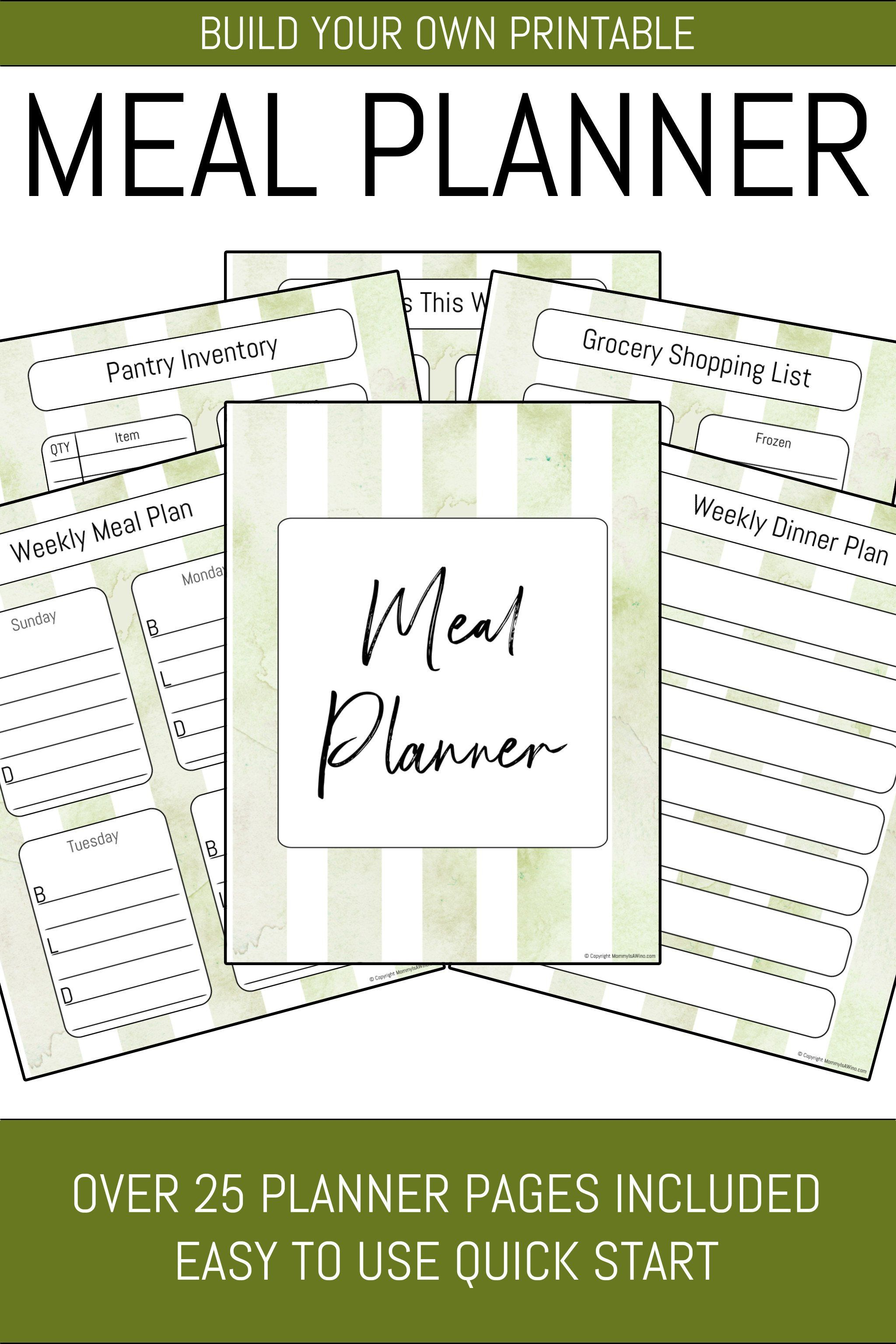 Meal Planner Binder 29 Pages