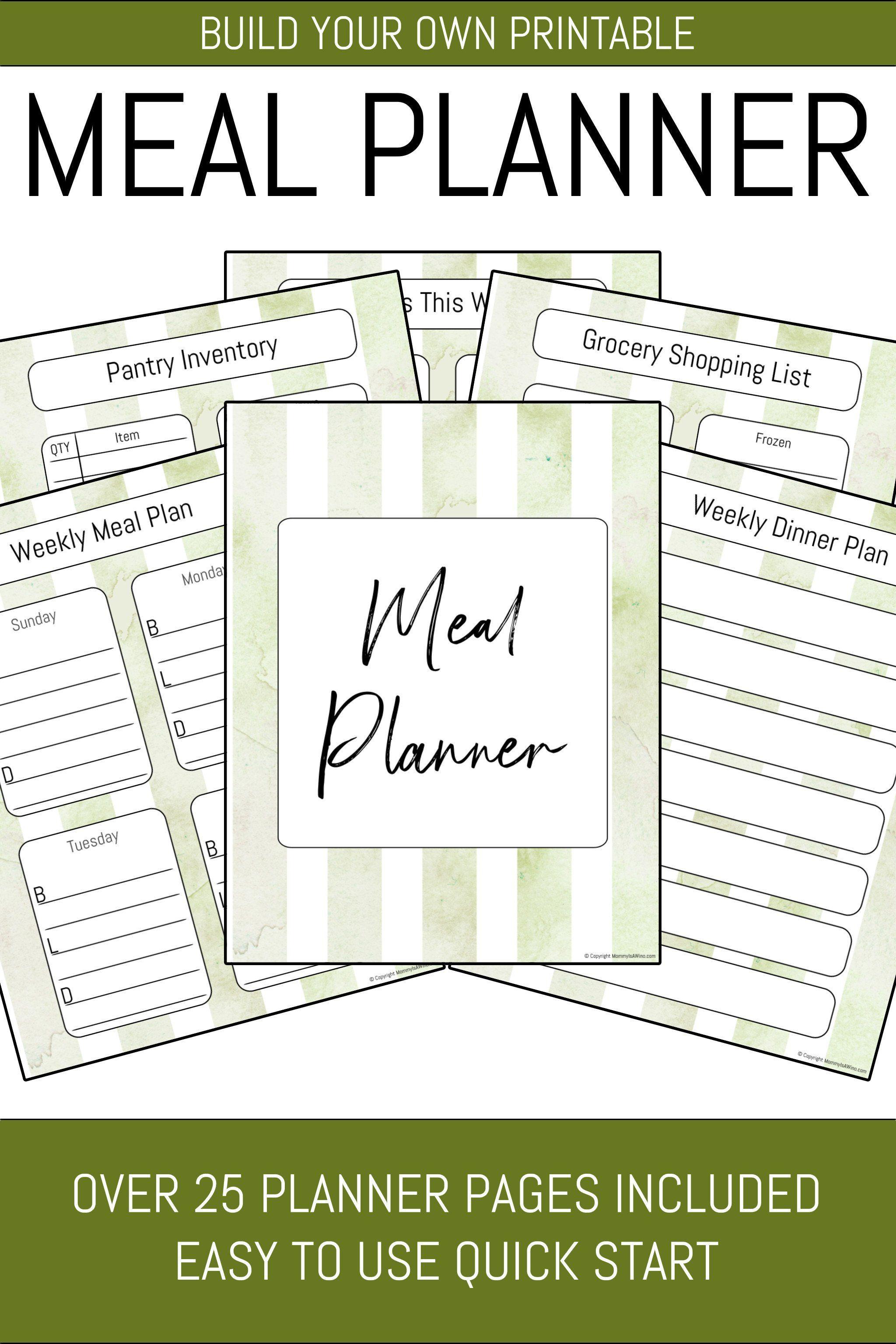 Meal Planner Binder 29 Pages