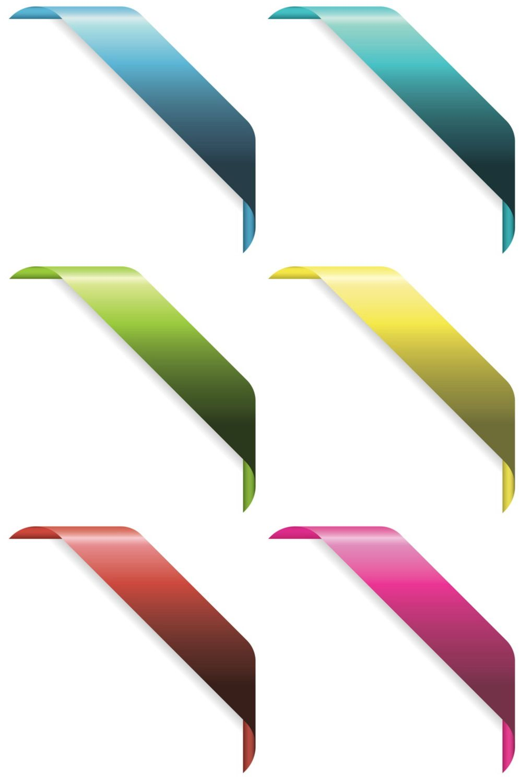 Corner Ribbons Vector Web Design Ribbon