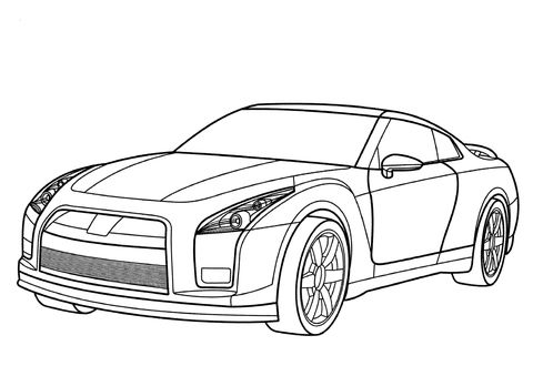 Nissan Gt R Coloring Page From Nissan Category Select From 24652