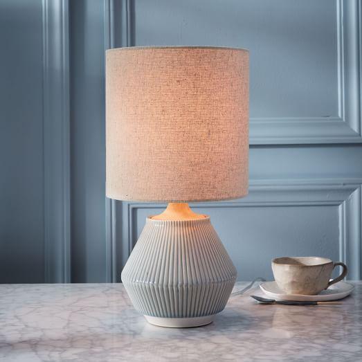 roar rabbit ripple ceramic table lamp small narrow cool gray rh pinterest com