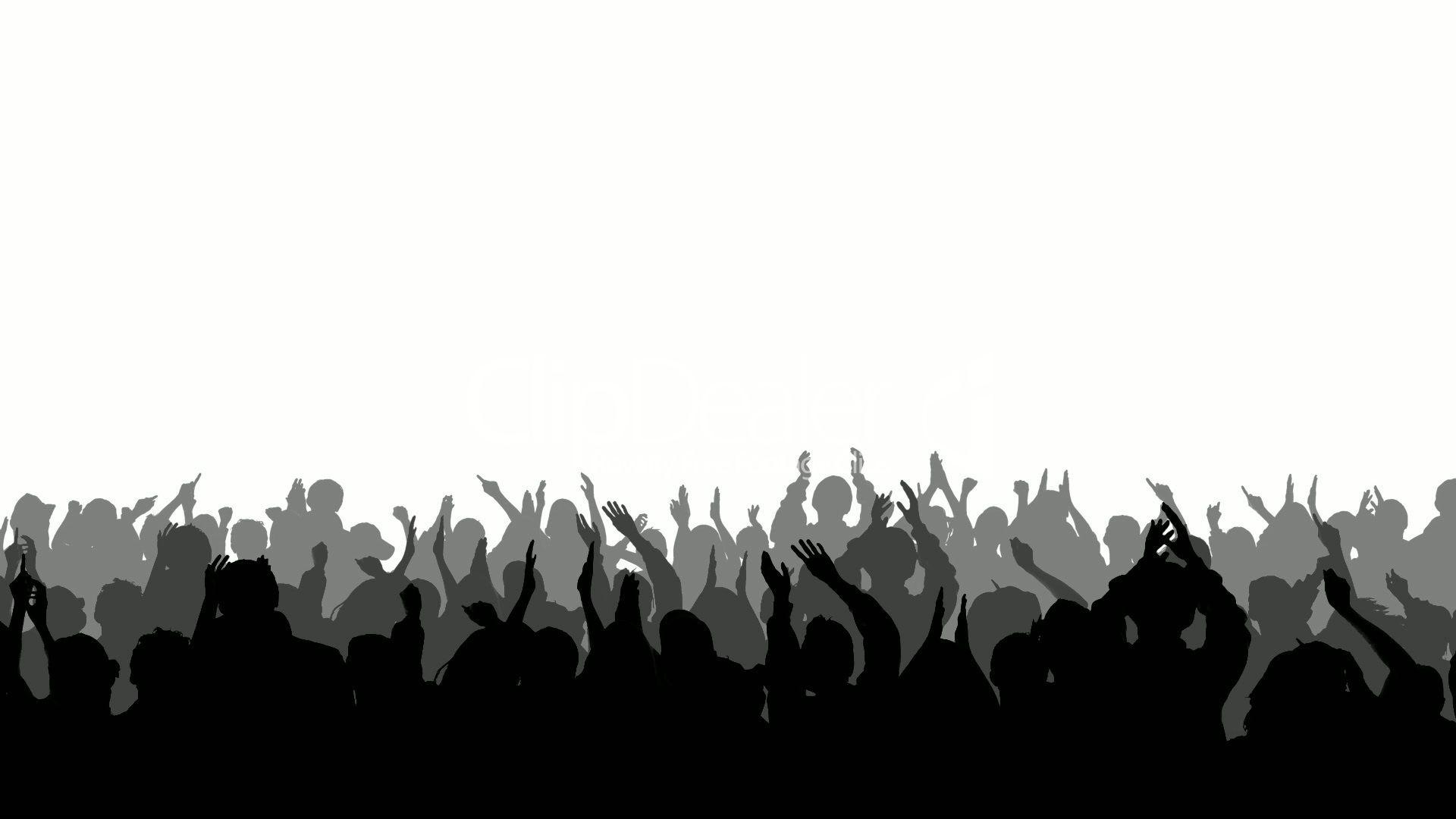 Crowd Silhouette   Cheering Crowd Silhouettes 2: Vidéos et clips libres de droits