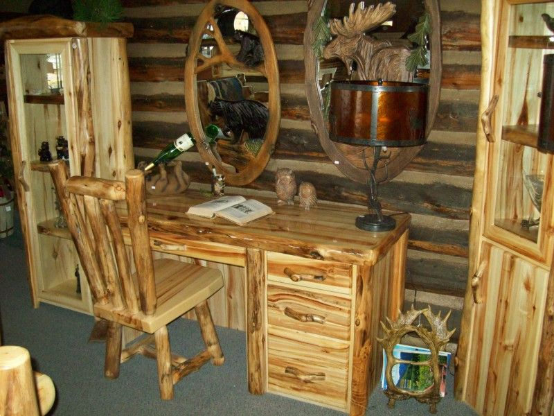 Merveilleux Desks And Office Furniture   Williams Log Cabin Furniture Colorado Rustic  Log Furniture