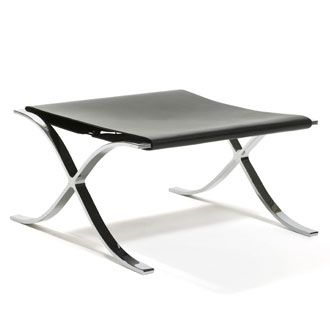 Ludwig Mies van der Rohe Barcelona Stool with Cowhide Sling