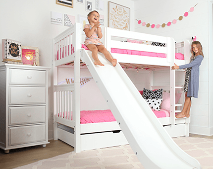 Maxtrix Kid S Bunk Beds Are Not Only Safe And Functional They Re Also Engineered For Fun Bunk Bed With Slide Cool Bunk Beds Bed With Slide