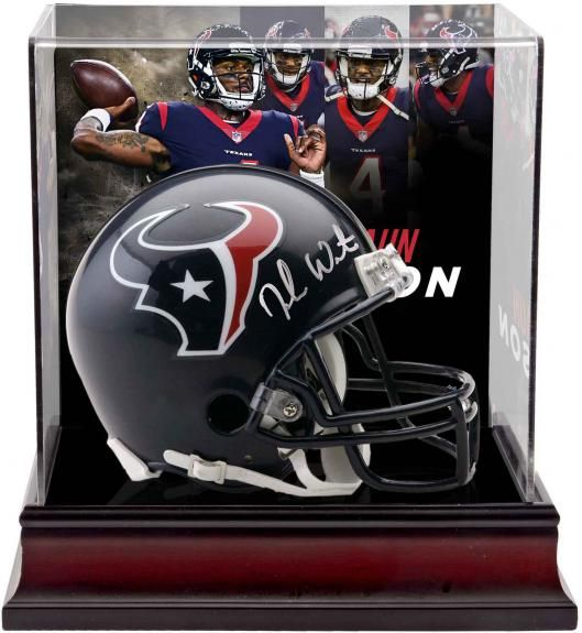 4db2ea4490b Deshaun Watson Houston Texans Autographed Riddell Mini Helmet with Deluxe  Mini Helmet Case