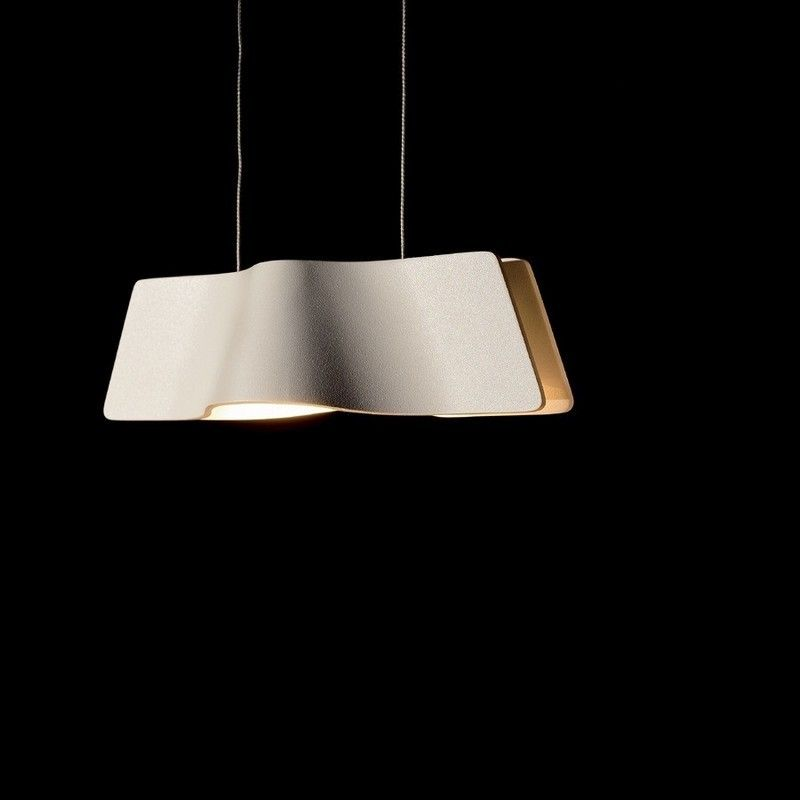 Suspension hall d entrée Lampe Wave Pendant LED L26 cm Laiton
