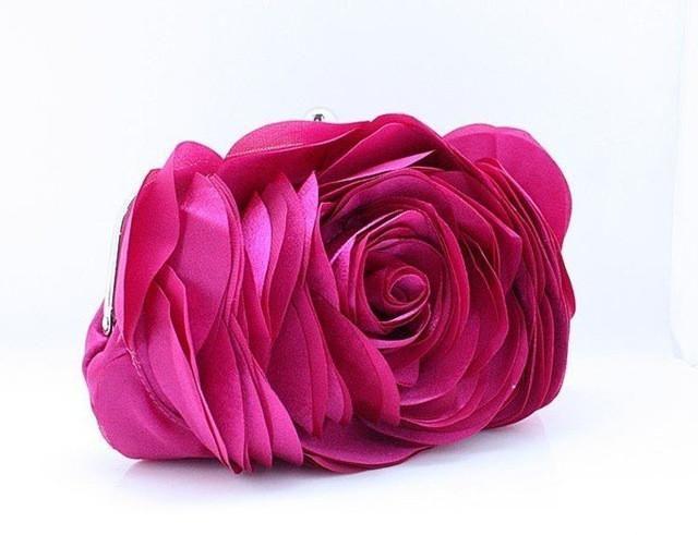 Hot Evening Bag Flower Bride Bag Purse Full Dress Party Handbag