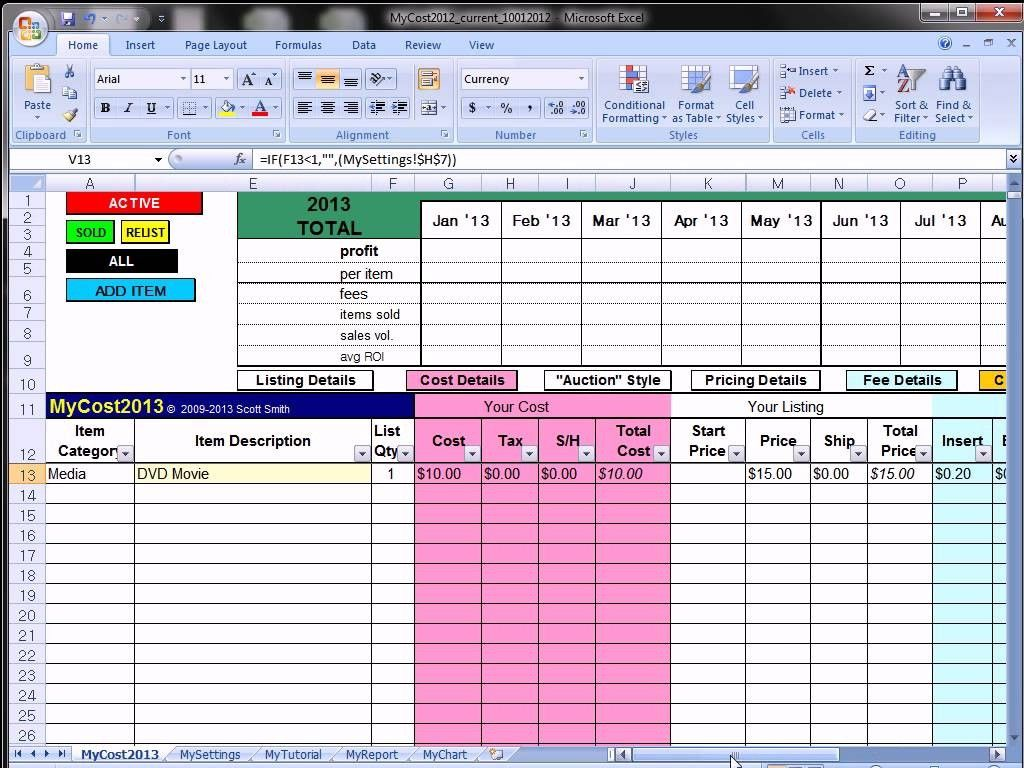 Antique Inventory Spreadsheet Spreadsheets Free Ebay At