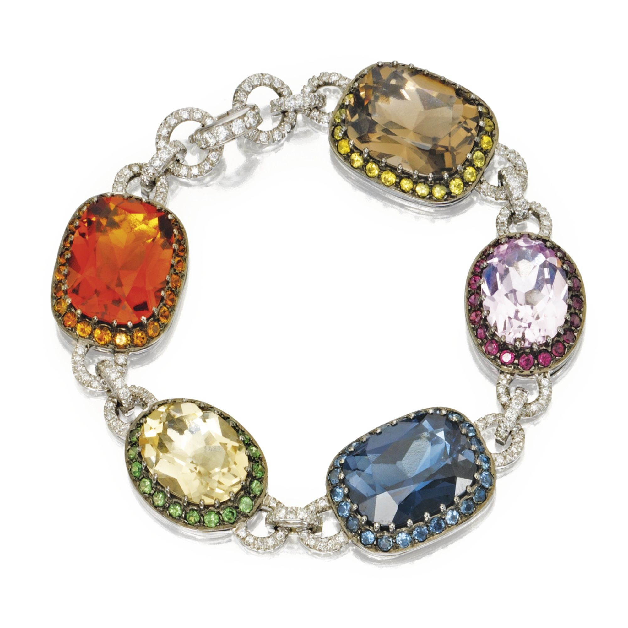 htm product k stone p toned multi bracelet two colored