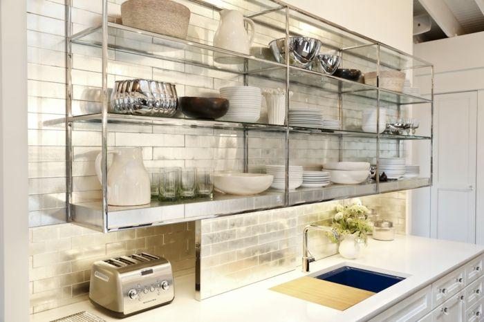 kchenideen einrichtungsideen glasregale kche einrichten - Einrichtungsideen Kuche