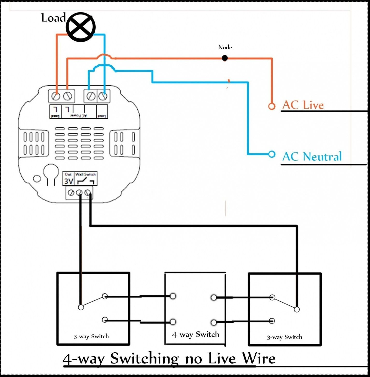 Unique Wiring Diagram Two Way Dimmer Switch