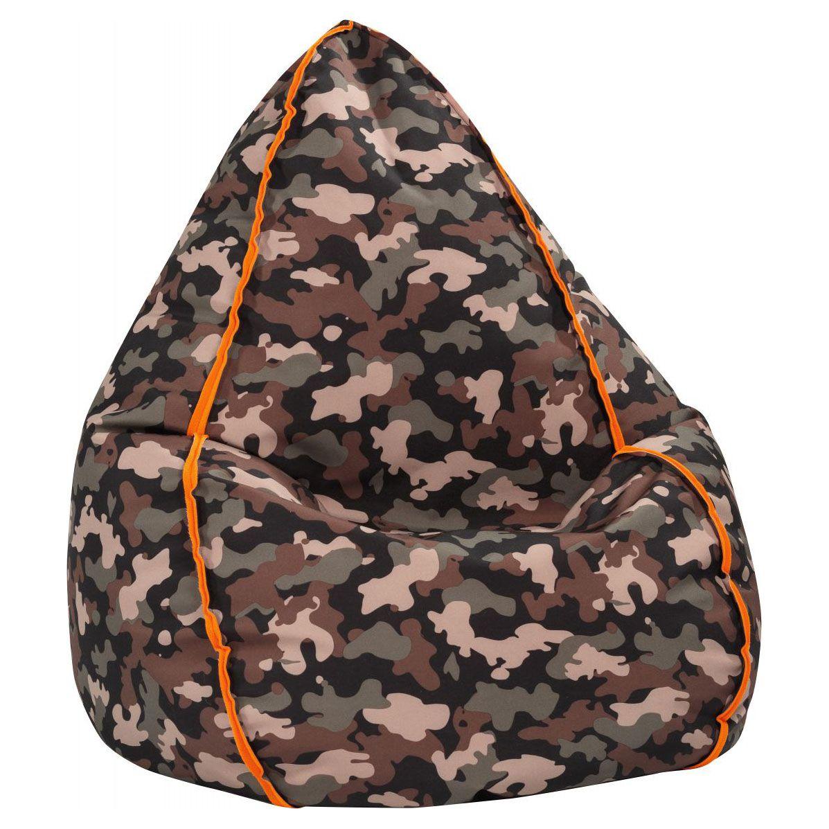 Big Bag Zitzak.Sitting Point Zitzak Beanbag Camo Xl Olive Zitzak Stoelen