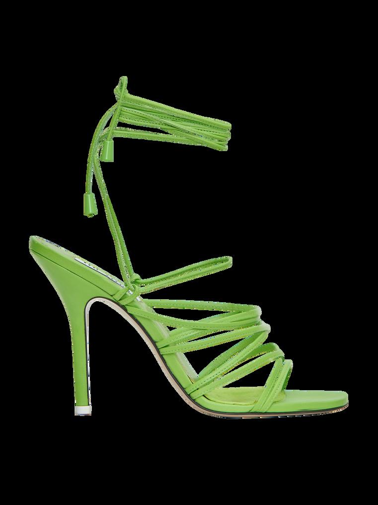The Attico The Attico Private Sale Fiona Green High Heel Sandals Green High Heels Green Heels Womens Shoes High Heels