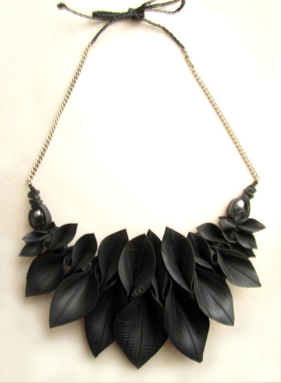 Upcycled inner tube Necklace