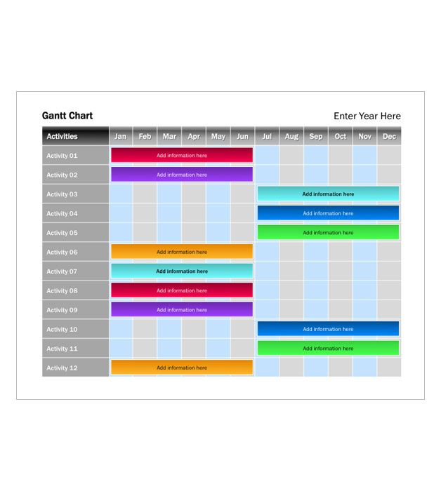 Jewel Tone Gantt Chart  Baskets    Jewel Tones Chart