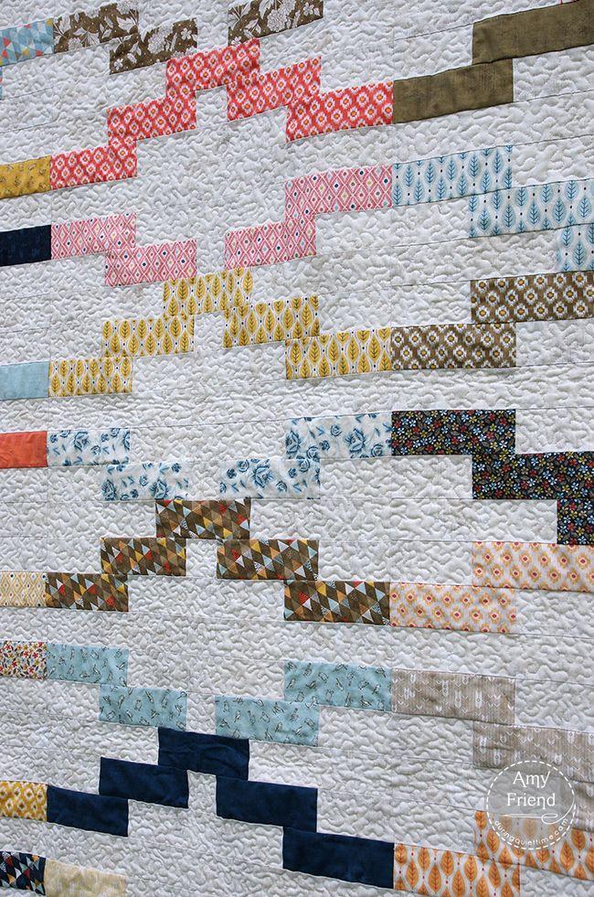 Interlock quilt pattern in Modern Patchwork by Amy Friend | During ... : modern patchwork quilt designs - Adamdwight.com
