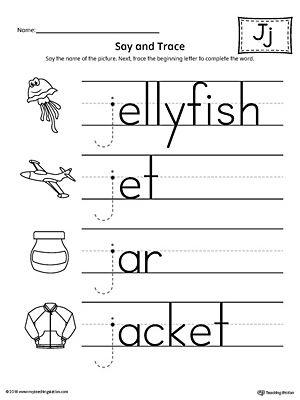 Letter J Worksheet For Kindergarten Preschool And 1 St Grade Preschool And Kindergarten Lettering Letter J Preschool Letters