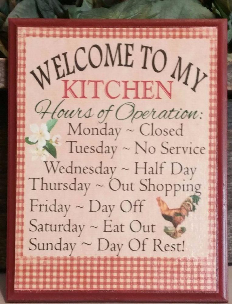 Welcome To My Kitchen Kitchen