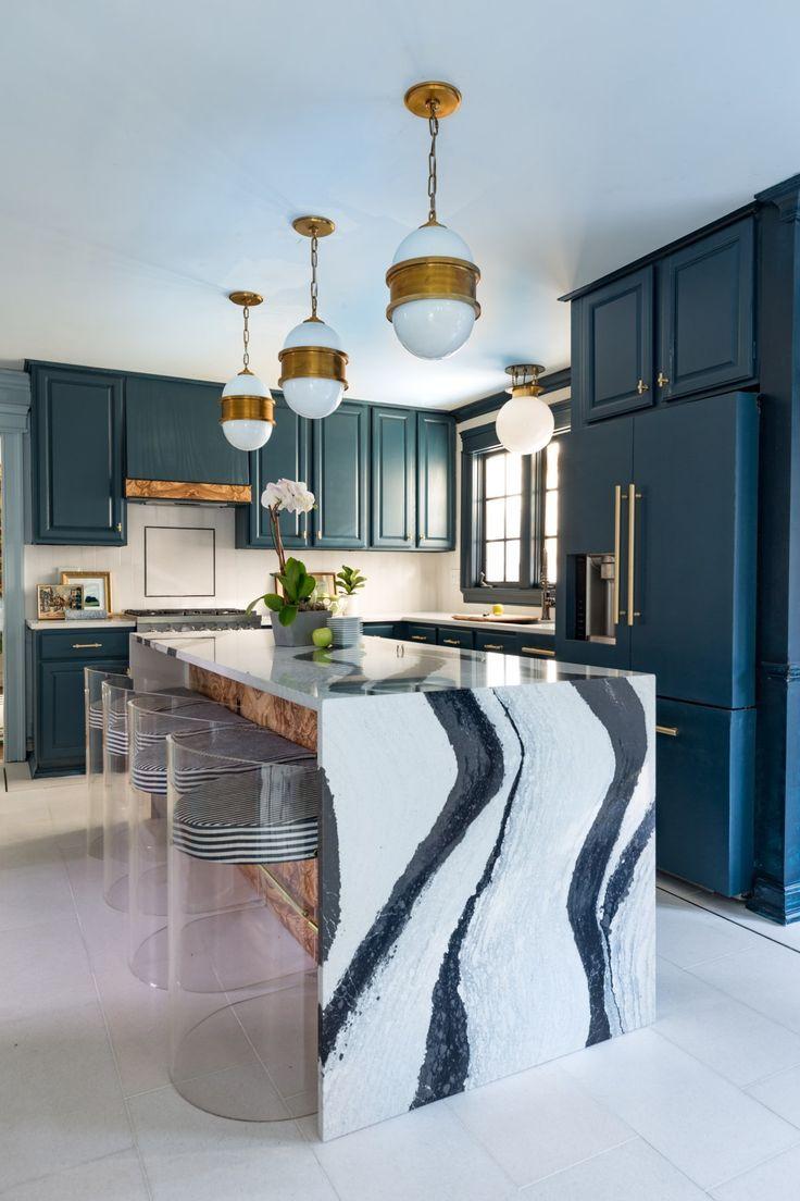Kitchen Interior Blue Industrial Design Blue Kitchen Interior Home Decor Interior Design Kitchen