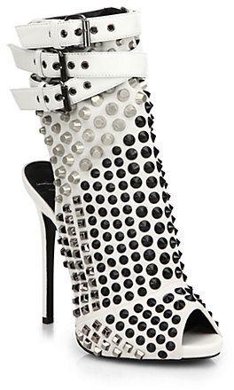 5e44127d2ae Giuseppe Zanotti Studded Platform Bootie Sandals on shopstyle.com ...