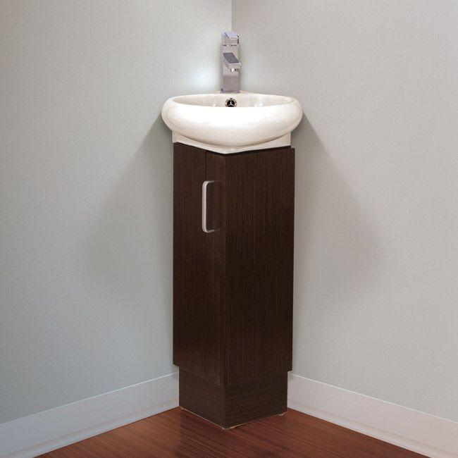 Fine Fixtures Milan Small Solid Wood Corner Bathroom Vanity Idei Dlya Vannoj Ekonomyashaya Prostranstvo Mebel I Vannaya