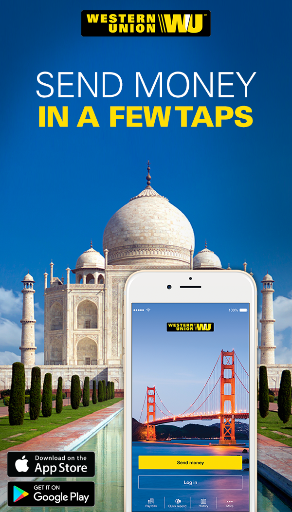 Send money fast with the free Western Union mobile app