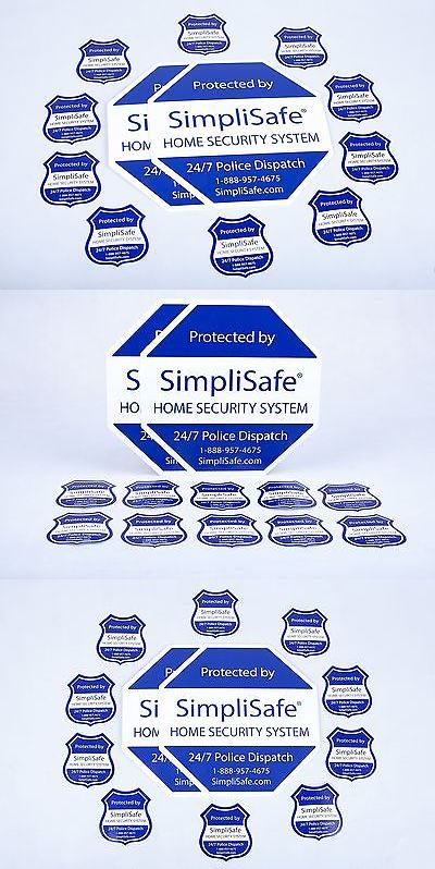 Security Signs And Decals Simplisafe Home Security System - Window decals for home security