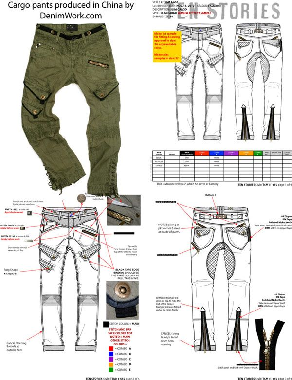 williamsburg garment company military cargo pants tech pack by ...