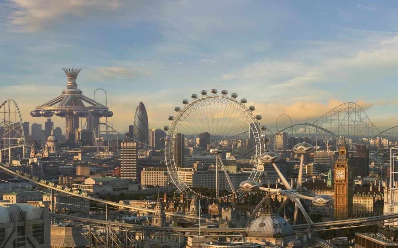 Amusement park city
