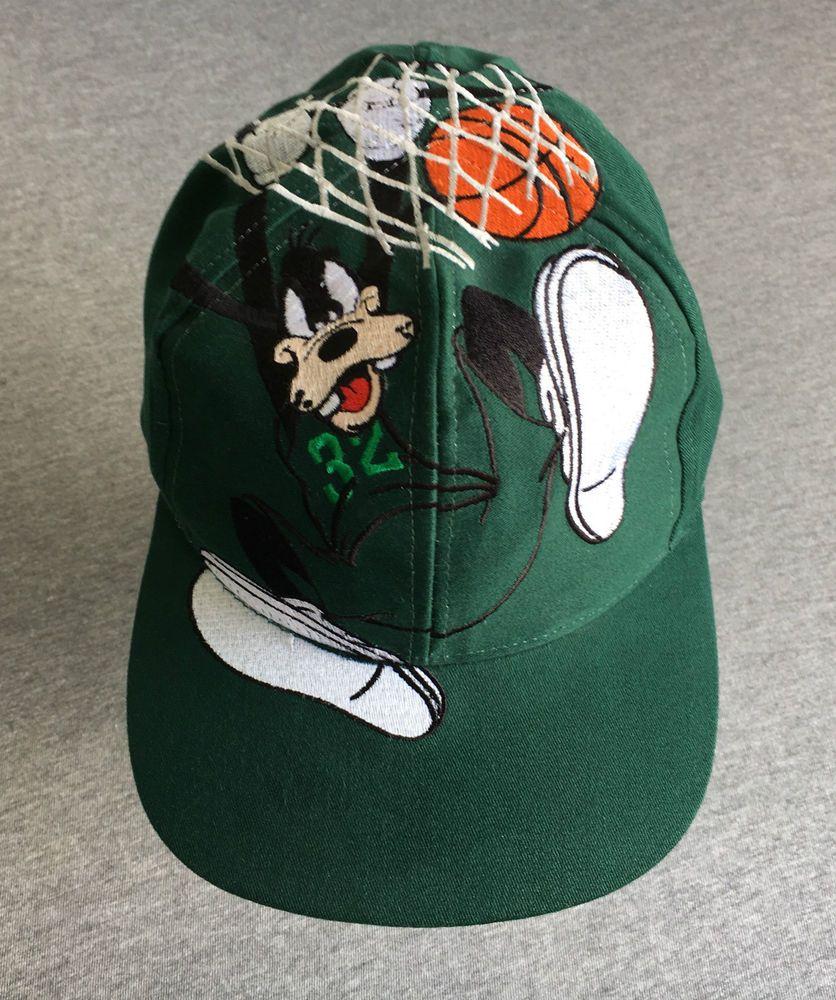 94275a50681 GOOFY Hat 90 s Vintage Slam Dunk Basketball Disney Snap Back Big Logo MINT!   GoofysHatCo