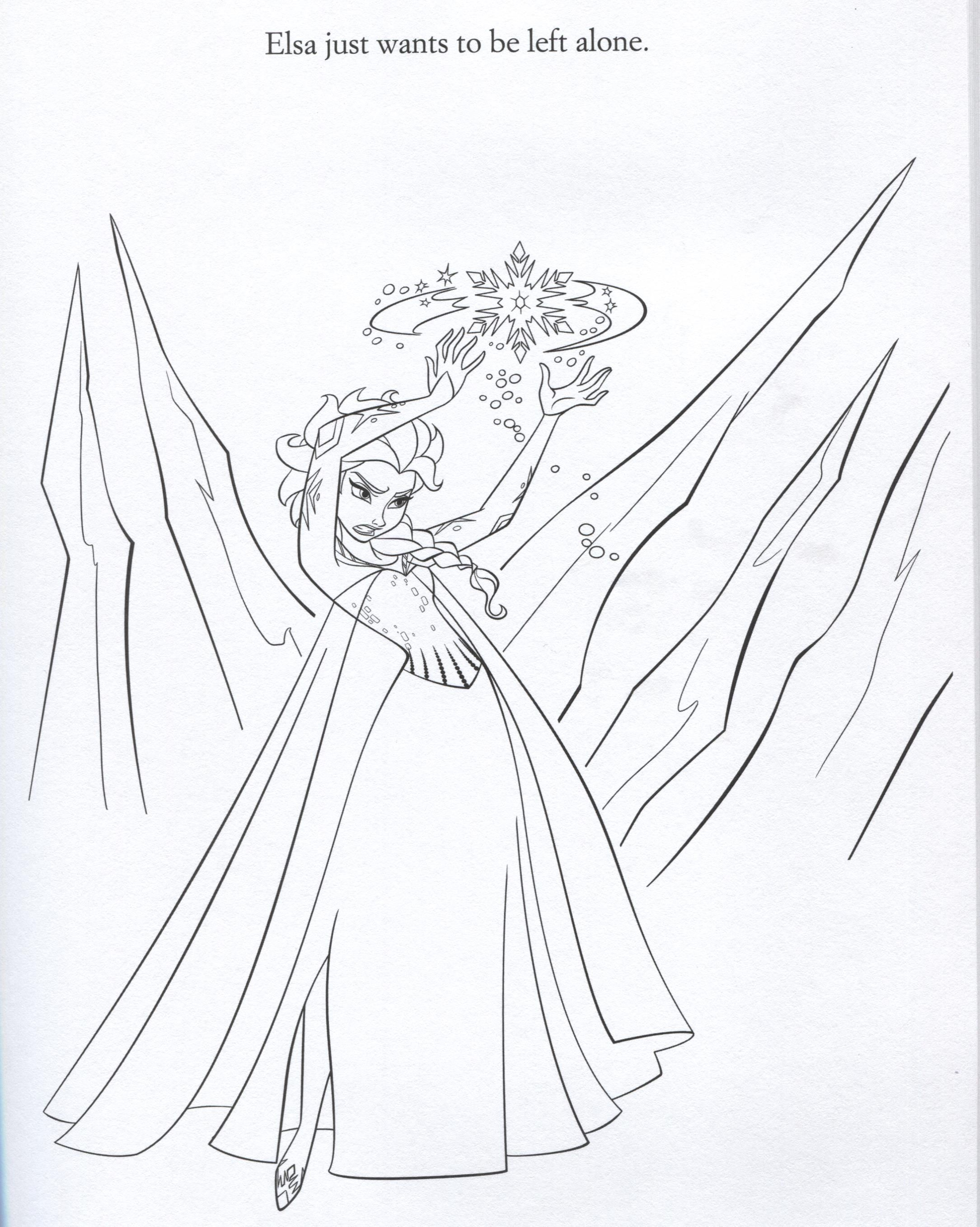 Official Frozen Illustrations Coloring Pages Disney