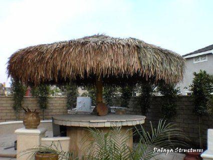 Amazon Com 14 Ft Palapa Tiki Mexican Thatch Umbrella Structure Kit Patio Lawn Garden Patio Backyard Patio Backyard
