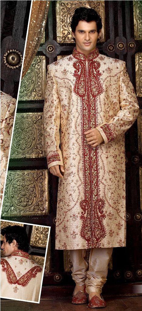 Indian Mens Kurta Bridal Mens Bridal Indian Fashion Desi Men Bridal