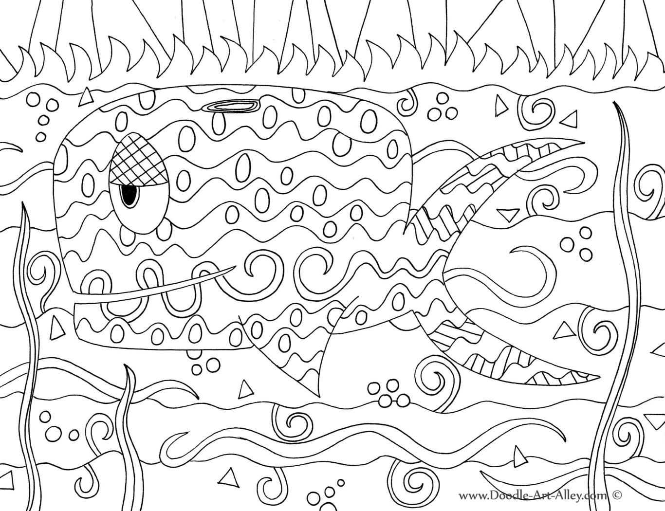 ocean animal coloring pages doodle art alley art class