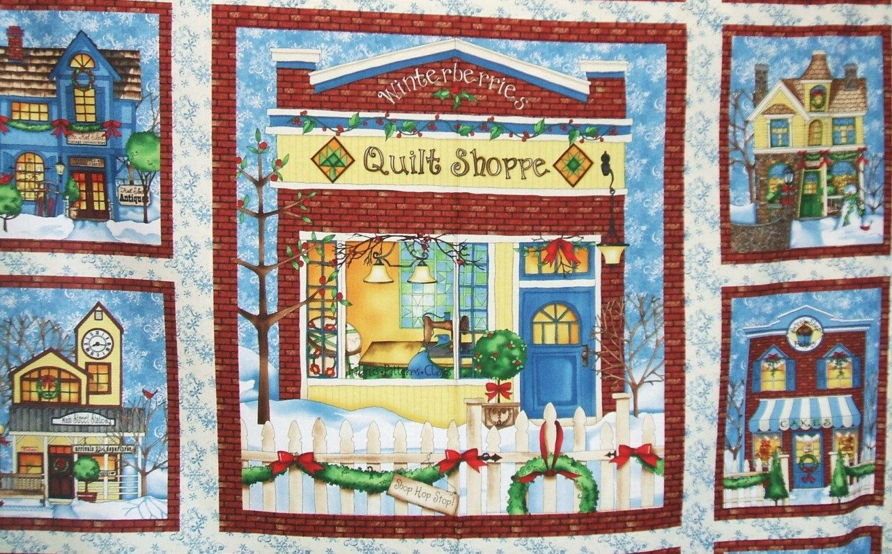 Wilmington All Around The Town Christmas Village Quilt Shop House