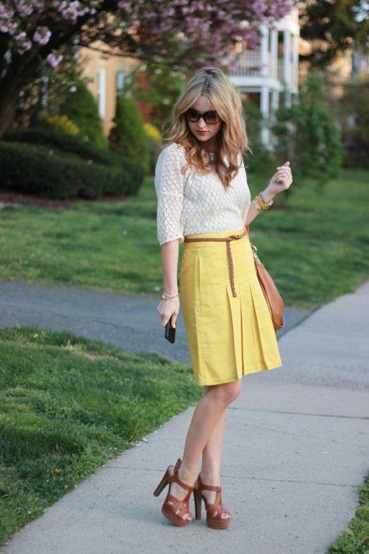 Sunny Days skirt c/o Banana Republic