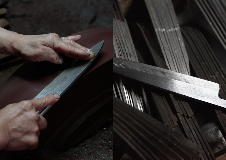 Kitchen knife builder Kazumi Kawakita.