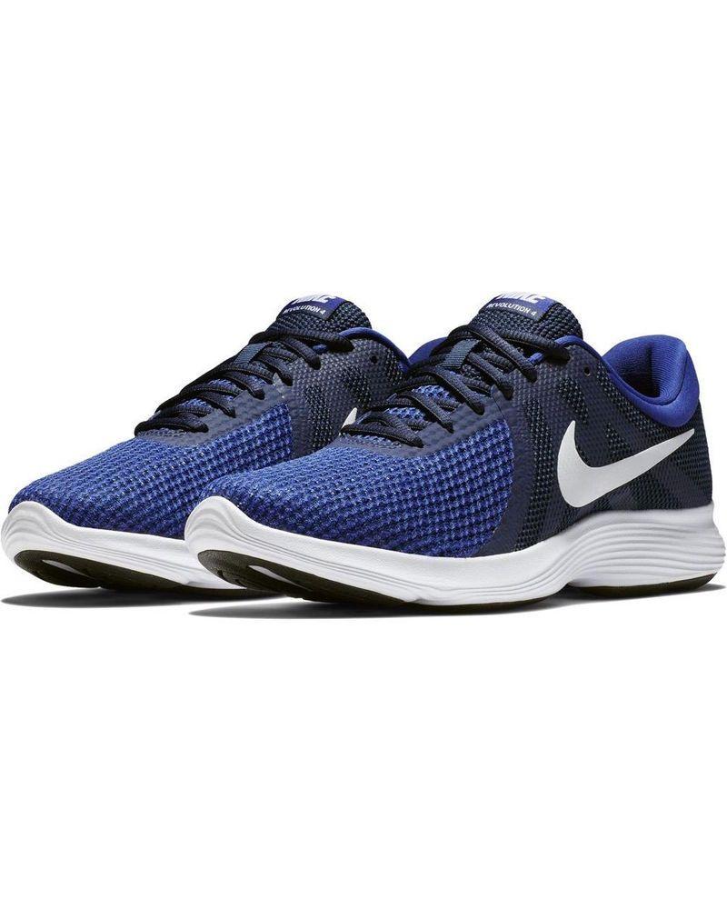 61b360bb4d09c Scarpe Ginnastica Sneakers Running Nike Revolution 4 Uomo Blu Originale.  ideale per palestra