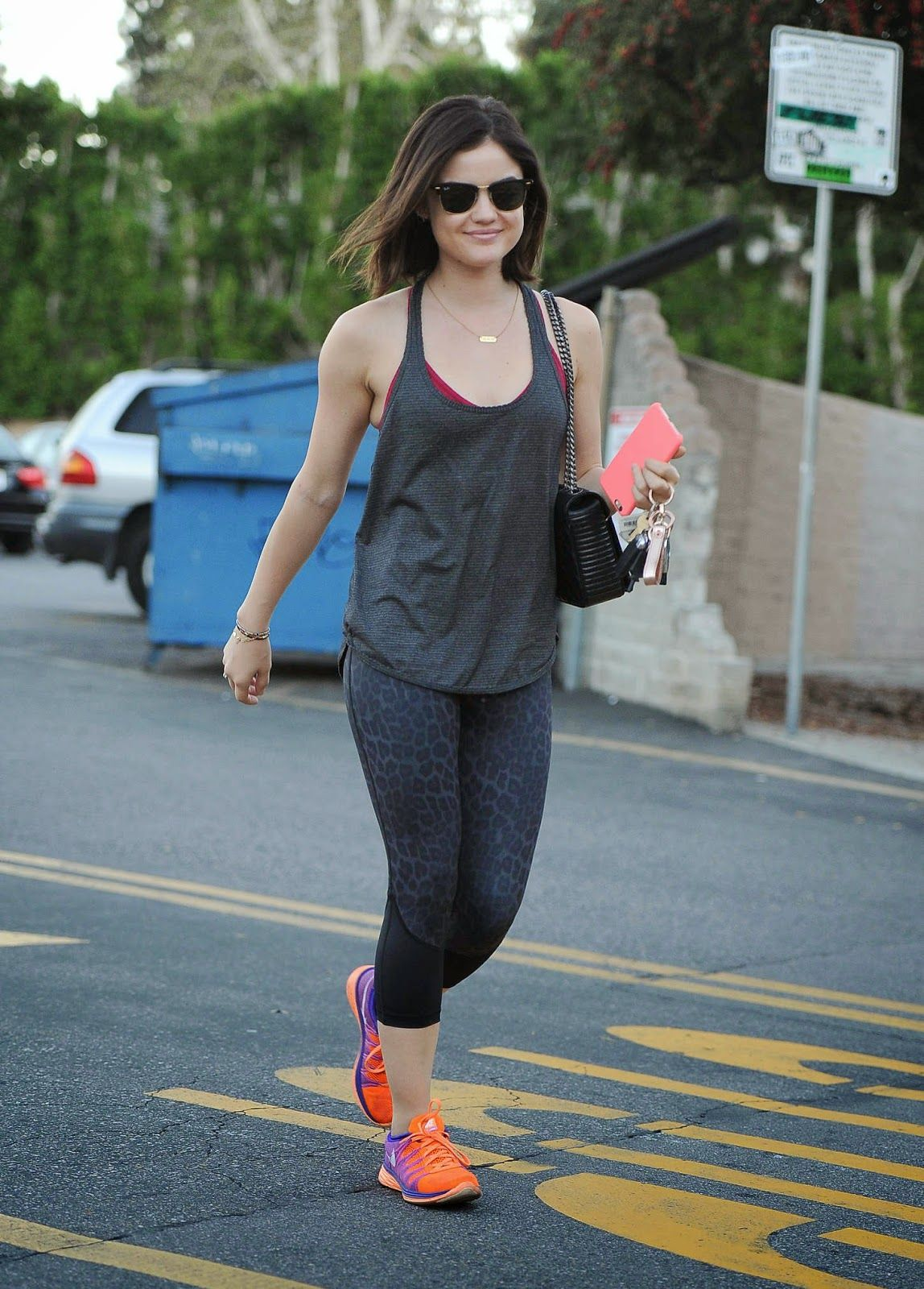 Lucy Hale Spotted In Gym Wear Out And About In La Rougeberry Fashion Lucy Hale Lucy Hale Style Celebrity Style Jeans