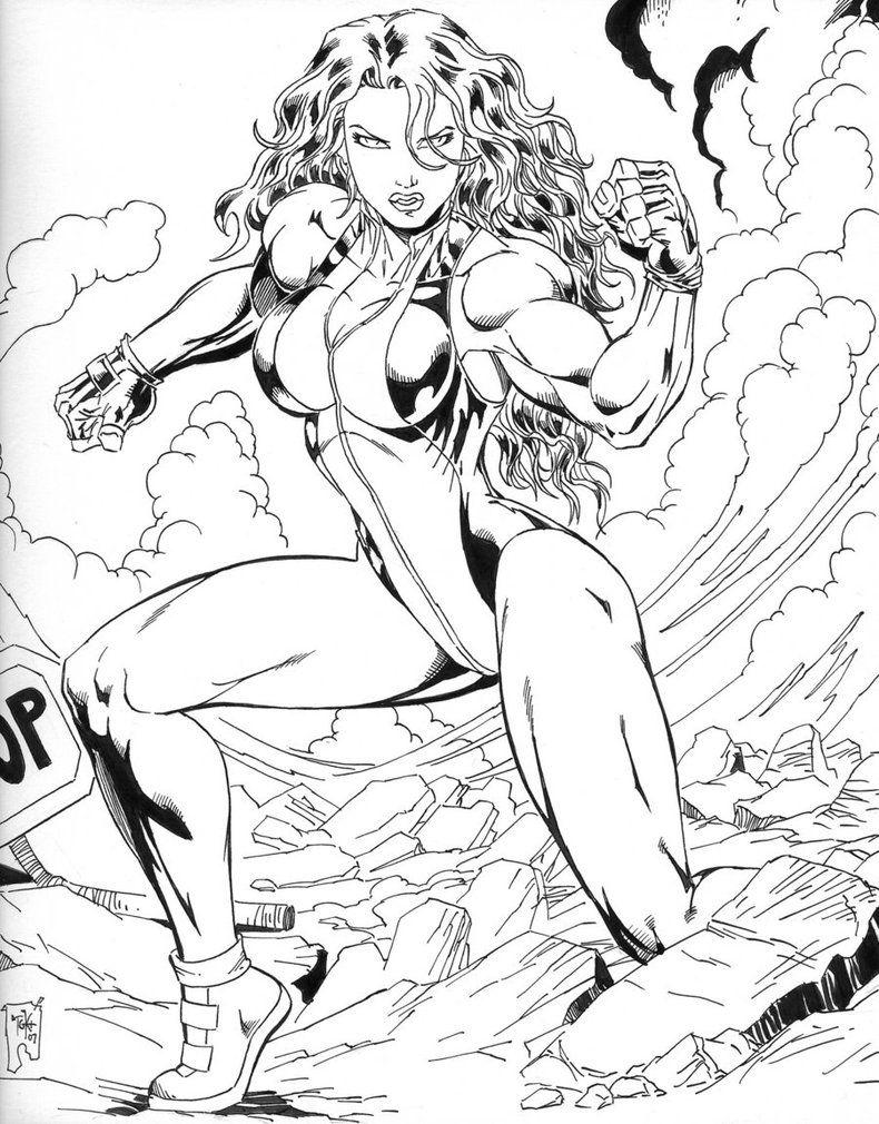 incredible hulk - She Hulk Coloring Pages