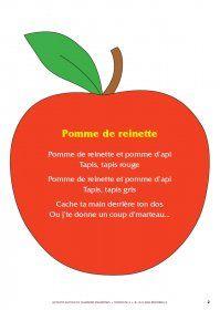Des activit s autour de la chanson pomme de reinette - Pomme de reinette et pomme d api tapis tapis rouge ...