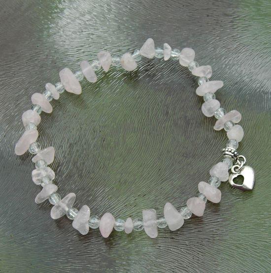 Bastelset,  Fusskettchen mit rosenquarz Perlen  steinperlenwelt ... 692d9142bf