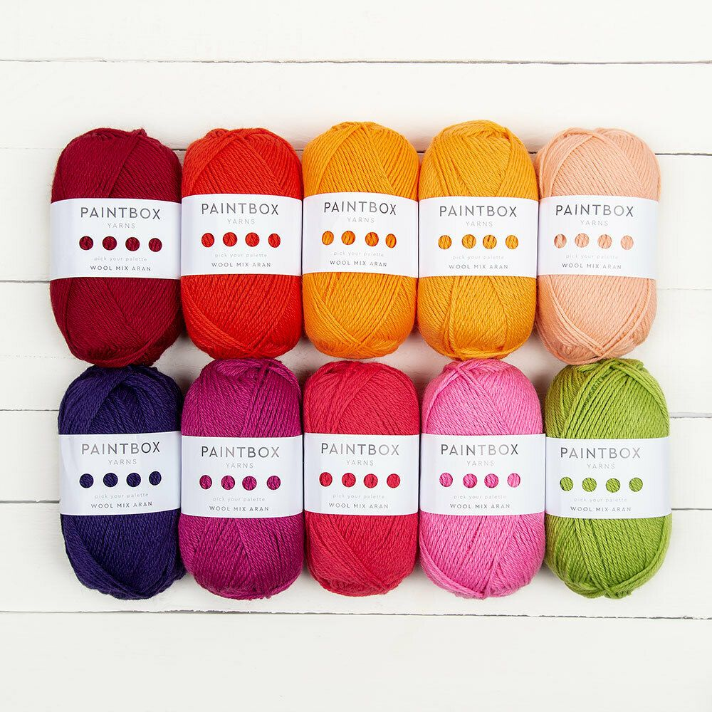 Paintbox Yarns Wool Mix Aran 10 Ball Color Pack | Fiber Arts