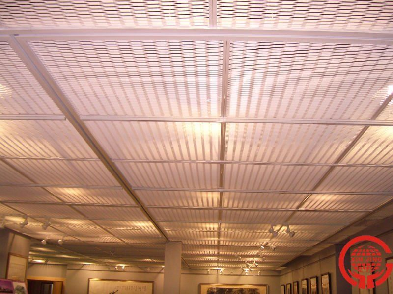 Metal stretched drop ceiling tilesgrid panel Metal