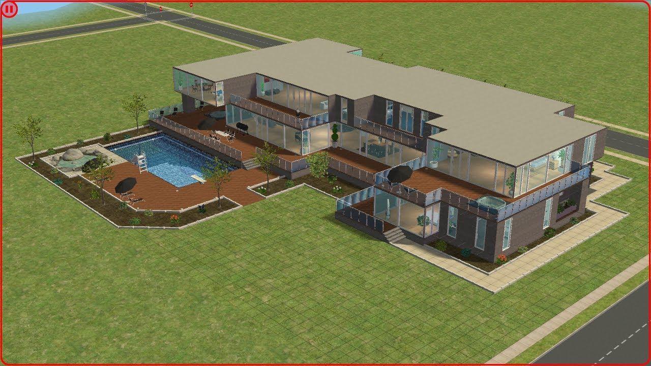 Grundriss villa sims 2  Die Sims 2 - Villa Steinkamp | Sims 2 Tutorials & Inspiration ...