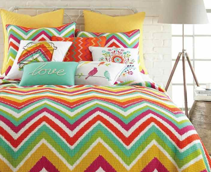 Bright Chevron Bedding at Stein Mart $49.99